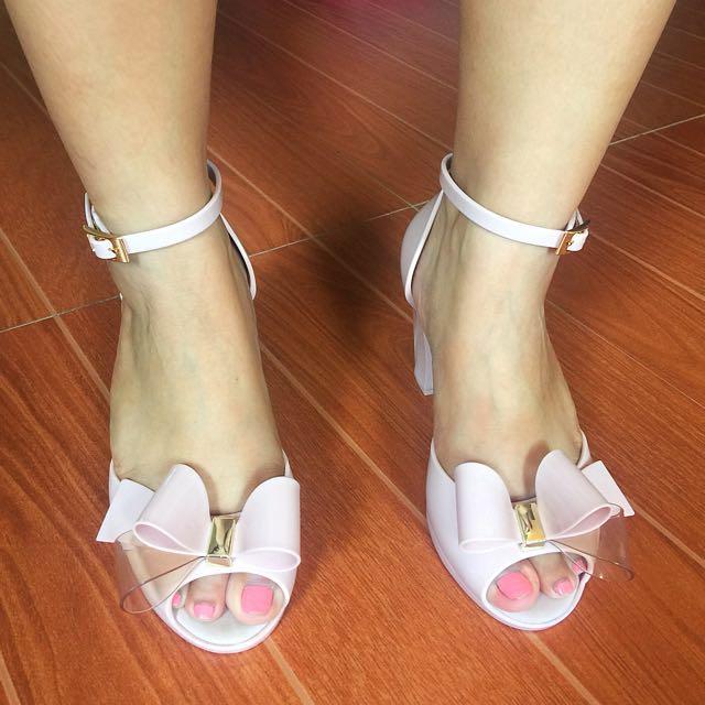 Zaxy Nude Heels Sandal (used once for wedding)