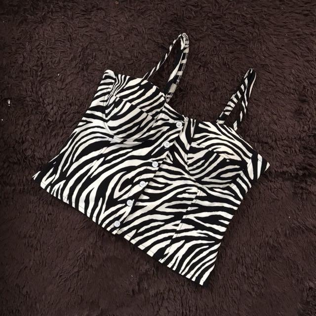 Zebra Bustier