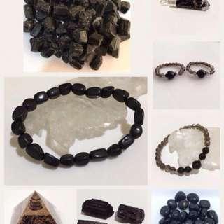 Black Tourmaline for Protection (Rings, Bracelets, Raw, Tumbled, Orgonite, etc)
