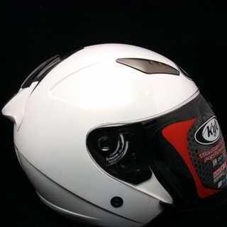 原價2000$現貨一頂不用等✨KYT DJ 珍珠白3/4半罩安全帽 內建鏡片 雙層鏡片