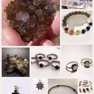 Smoky Quartz Crystal (Ring, Bracelet, Anklet, Pendant, Earrings, Raw, Tumbled, etc)
