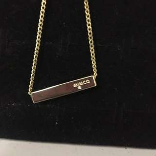 Gold Pave Bar Mimco Necklace