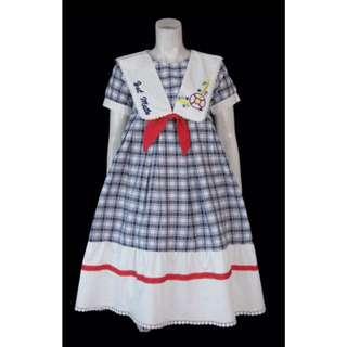 連衣裙古著日本森女澀谷少女文藝vintage