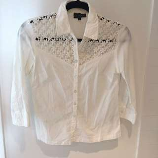 White button up shirt size XS