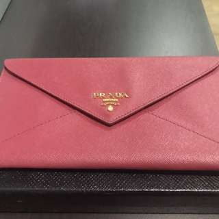 Genuine Prada Envelope Wallet