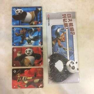 功夫熊貓 紀念車票 車飛 地鐵 港鐵 九廣鐵路 MTR KCR 列車 火車 精品 玩具