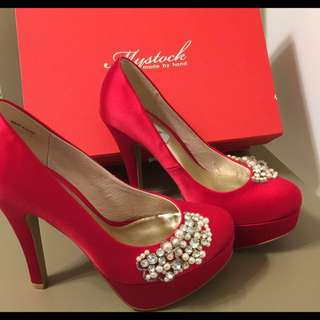 MyStock 紅色高跟婚鞋 /23.5