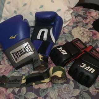Boxing Gloves, MMA Gloves and Hand Warps