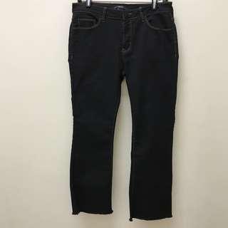 Preloved Forever 21 Frayed Crop Flare Jeans