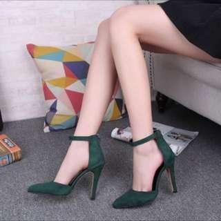 High heels (dark green)