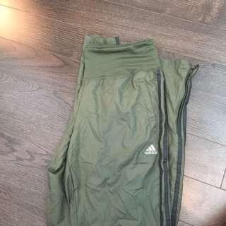 Olive adidas track pants