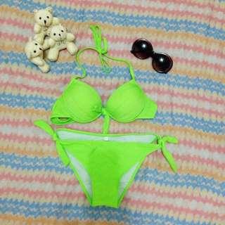 Green Two Piece Bikini