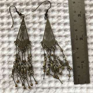 Dangly silver earrings