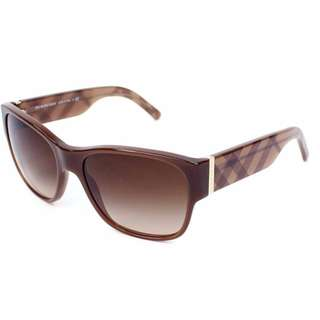 BURBERRY SUNGLASSES Brown with Case and cleaning cloth