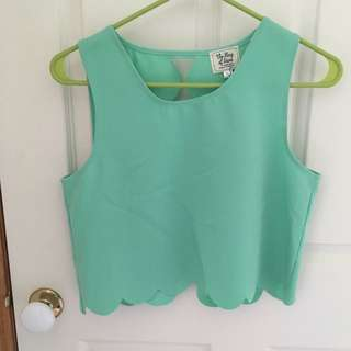Vintage Green Crop Top