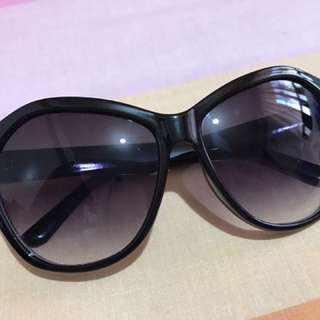 Black oversized shades