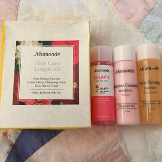 Mamonde skin care sample kit