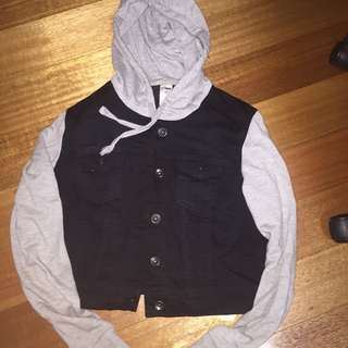 Black and grey jacket