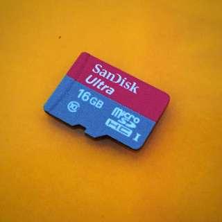 Sandisk Ultra 16gb micro HC I Class 10