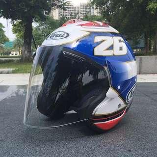 High quality Arai inspired Dani padrosa 26 samurai half face Helmet