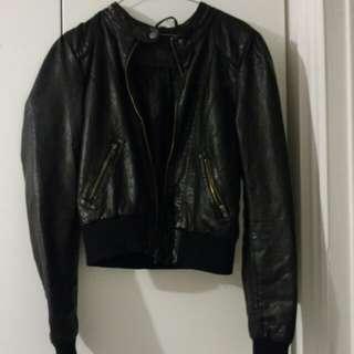 Vintage style vegan leather jacket