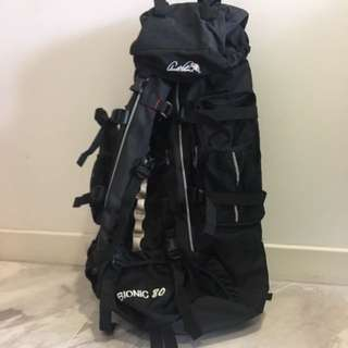 Bionic 80 camping hiking duffel backpack