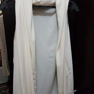 White sheer cover up