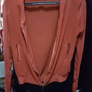 Sheer orange jacket
