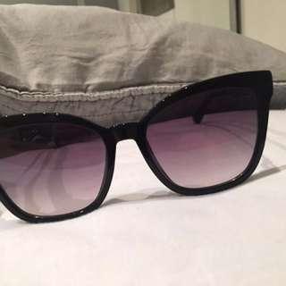 Auth new jimmy choo junia black gold sunglasses