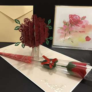 Rose 3d pop out card