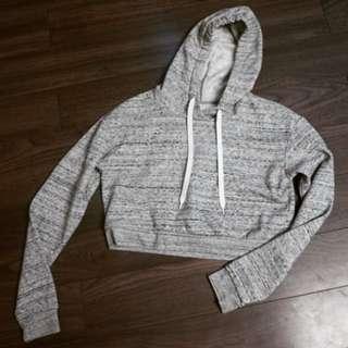 H&m hoodie crop top