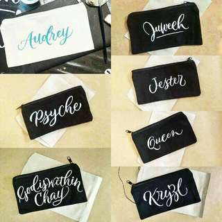 📍 Customized Calligraphy Pouch