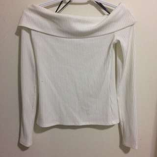 F21 Off the shoulder long sleeve