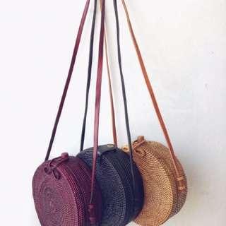 PRE-ORDER! Round Rattan Bag