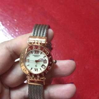authentic charriol 2 toned watch(rosegold)