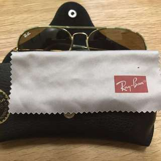 Ray Ban太陽眼鏡 茶色 迷彩 99%新