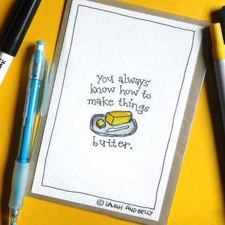 Hand-Drawn Card: How To Make Things Butter