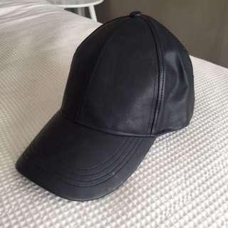 Pleather cap
