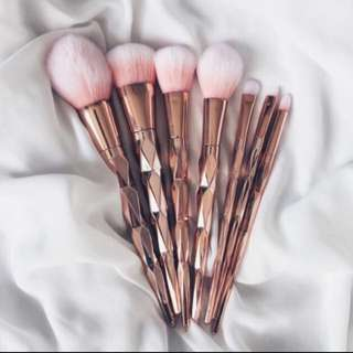 10pcs Rose Gold Makeup Brushes