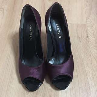 Magenta Janilyn Open Toe Pumps