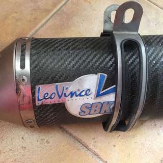 leo vince exhaust system sbk pipe