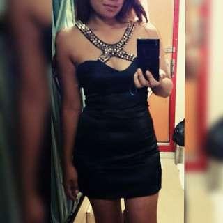 Lola Black Spikey Dress