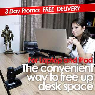 ✔FREE DELIVERY: Notebook/Laptop Arm Extension Mount Hydraulic Arm Desktop Stand Clamp (FREE DELIVERY)