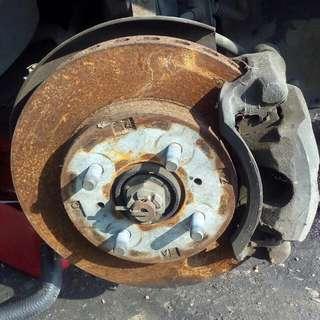 Brake disc depan belakang wira satria putra