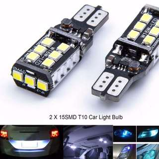 LAT0331BK - Brand New 2 x 15SMD T10 Interior Car Light Bulb