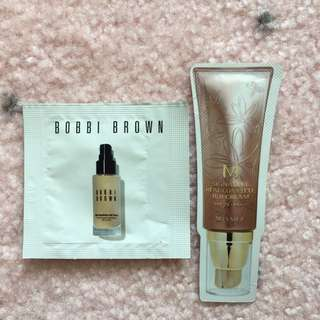 Bobbi Brown Foundation & Missha BB Cream
