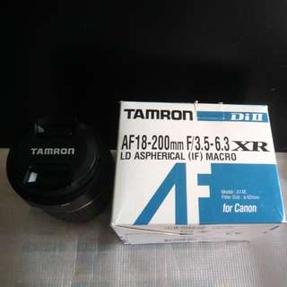 Tamron 18-200mm Lens Negotiable