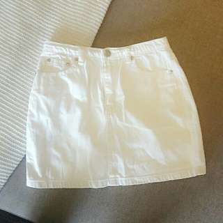 White Deneim Skirt