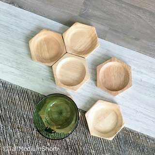 Hexagon wooden coasters