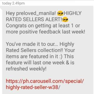 HIGHLY-RATED SELLERS ALERT